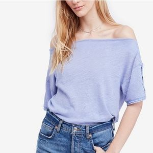NWT, Free People She's So Cool off shoulder top